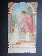 VP FAIRE-PART COMMUNION (M1611) ANNETTE HAUREGARD (2 Vues) Eglise Paroissiale D'ANDRIMONT 6/05/1928 - Communion