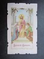 VP FAIRE-PART COMMUNION (M1611) ANNETTE HAUREGARD (2 Vues) Eglise Paroissiale D'ANDRIMONT 6/05/1928 B - Communion