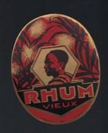 """étiquette Rhum  Vieux """"visage Homme"""" Imp Plouviez Et Cie - Rhum"""