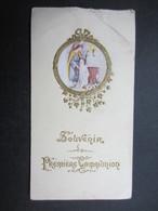 VP FAIRE-PART COMMUNION (M1611) ANNETTE HAUREGARD (2 Vues) Eglise Paroissiale D'ANDRIMONT 6/05/1928 C - Communion