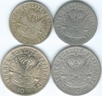 Haiti - 5 Centimes - 1949 (KM57) & 1953 (KM59); 10 Centimes - 1949 (KM58) & 1953 (KM60) - Haïti