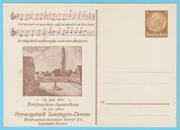 J.M.24 - Allemagne - Entier Postal - N° 47 - Chant - Notation - Exposition Philatélique - Musique