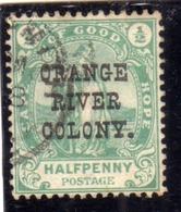 ORANGE FREE STATE STATO LIBERO 1892 ORANGE RIVER COLONY 1/2d P HALF PENNY  USED USATO OBLITERE' - Sud Africa (...-1961)