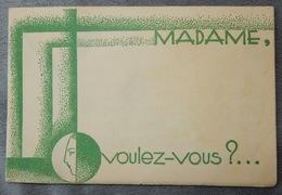 Rare Et Ancien Document Commercial Produit De Beauté Lentheric Art Déco Soin Du Visage Madame - France