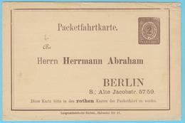 J.M.24 - Allemagne - Entier Postal - N° 50 - Poste Locale De Berlin - Orchestre - - Musique