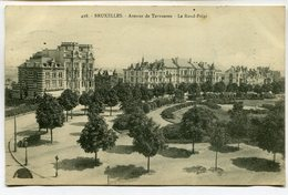 CPA - Carte Postale - Belgique - Bruxelles - Avenue De Tervuren - Le Rond Point- 1914 (M7378) - Lanen, Boulevards