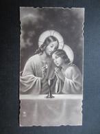 VP FAIRE-PART COMMUNION (M1611) MICHEL MINNE (2 Vues) Chapelle De L'Institut St Joseph La Louvière 15/06/1933 - Communion