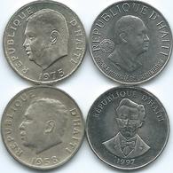 Haiti - 5 Centimes - 1958 (KM62) 1975 - FAO (KM119) 1981 - FAO (KM145) & 1997 (KM154a) - Haïti