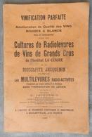 Rare Et Ancien Document Livret 1933 Vinification Cultures Radiolevures Vin De Grands Crus Jacquemin G Malzéville Nancy - Livres, BD, Revues
