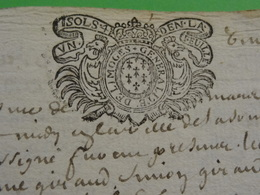 1695 Généralité De Limoges (Haute-Vienne) N°91 Superbe Frappe Coq - Cachets Généralité