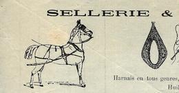 1909 Guillaume Rateau Sellerie Et Bourrellerie à Aigurande  (Indre)  Pour Gabert Fernand Même Ville ?  VOIR SCANS - France