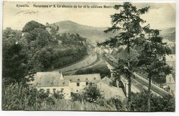 CPA - Carte Postale - Belgique - Aywaille - Panorama - Le Chemin De Fer Et Le Château Mouton- 1914 (M7379) - Aywaille
