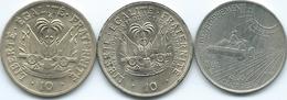 Haiti - 10 Centimes - 1958 (KM63); 1975 - FAO (KM120) & 1981 - FAO (KM146) - Haïti