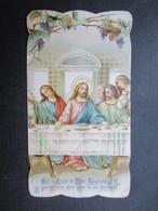 VP FAIRE-PART COMMUNION (M1611) GERMAINE LANGHOOR (2 Vues) Eglise St-Charles Borromée à MOLENBEEK ST-JEAN 29/03/1925 - Communion