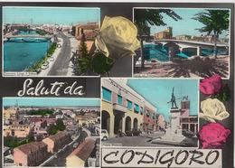 1966 SALUTI DA CODIGORO (FERRARA) VEDUTINE --- M1435 - Ferrara