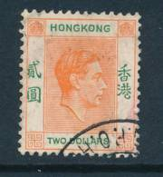 HONG KONG, 1938 $2 Orange & Green Fine Used, Cat £29 - Hong Kong (...-1997)