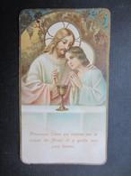 VP FAIRE-PART COMMUNION (M1611) JULES DE FAYS (2 Vues) Eglise Paroissiale DAnseremme 17/06/1928 - Communion