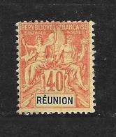 REUNION - N° 41 NEUF * - COTE = 37.00 € - Reunion Island (1852-1975)
