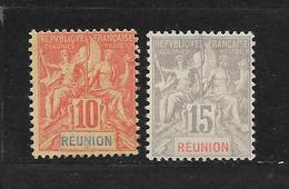 REUNION - N° 47.48 NEUF * - COTE = 18.00 € - Reunion Island (1852-1975)