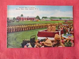 US Marine Base----- Camp Lejeune--------   Marine Pass In Review    North Carolina > Ref 3169 - Militaria