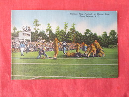 US Marine Base----- Camp Lejeune--------   Marines  Play Football   North Carolina > Ref 3169 - Militaria