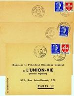 CORREZE : 3 Cachets Manuels 1958 Et 1959 - Bolli Manuali
