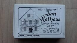 Zündholzschachtel  Aus Deutschland Mit Werbung Für Ein Hotel Und Restaurant In Schöppingen - Zündholzschachteln