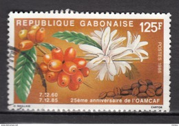 Gabon, Café, Coffee, Agriculture, Alimentation, Fleur, Flower, 1986, OAMCAF - Alimentation