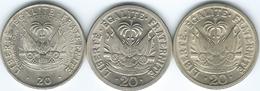 Haiti - 20 Centimes - 1956 (KM61) 1970 (KM77) & 1975 - FAO (KM100) - Haïti