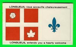 CARTES ROUTIÈRES - VILLE DE LONGUEUIL VOUS ACCUEILLE CHALEUREUSEMENT EN 1967 - - Cartes Routières