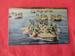 US Marine Base----- Camp Lejeune----- Landing Party In Rubber Boats     North Carolina > Ref 3169 - Militaria