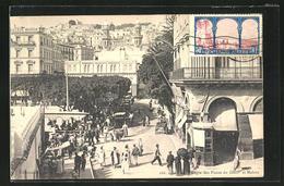 CPA Alger, Angle Des Places Du Gouv. Et Mahon - Algiers