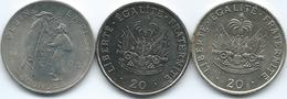 Haiti - 20 Centimes - 1981 - FAO (KM147) 1991 (KM152) & 1995 (KM152a) - Haïti