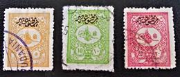 TIMBRES POUR JOURNAUX - SURCHARGES NOIRES 1901 - OBLITERES - YT 17/19 - DENTELES 13 1/2 - 1858-1921 Osmanisches Reich