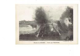 Cpa - Musée De Reims - Vaches Par TROYON - J. Bloumine - Vache - Vaches
