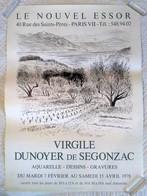 AFFICHE ANCIENNE ORIGINALE EXPOSITION DUNOYER DE SEGONZAC Galerie Le Nouvel Essor Paris 7è 1978 - Paysage - Affiches