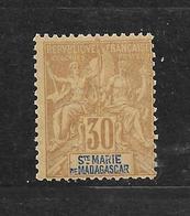SAINTE MARIE DE MADAGASCAR - N° 9 NEUF * - COTE = 20.00 € - Neufs
