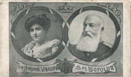 La Baronne Caughan - S.M. Leopold II - Ed. J. Frimat Ostende - Familles Royales