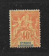 SAINTE MARIE DE MADAGASCAR - N° 10 NEUF * - COTE = 20.00 € - Madagascar – Sainte-Marie (1894-1898)