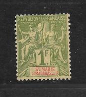 SAINTE MARIE DE MADAGASCAR - N° 13 NEUF * - COTE = 60.00 € - Madagascar – Sainte-Marie (1894-1898)