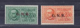 ITALIA 1944 RSI GNR ESPRESSI 1,25 +2,50 **MNH Firmati Caffaz ALTA QUALITA' - 4. 1944-45 Repubblica Sociale