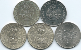 Haiti - 50 Centimes -  1972 - FAO (KM101) 1975 (KM101a) 1981 - FAO (KM148) 1991 (KM153) 1995 (KM153a) - Haïti