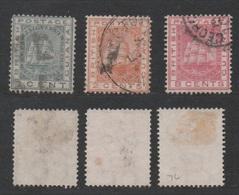 British Guiana, Used, 1876, Michel 32, 33, 36 - Guyana Britannica (...-1966)