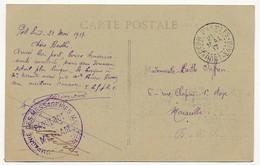 """Cachet """"Correspondance D'Armées PORT SAID"""" 1917 + Compagnie Des Messageries Maritimes Paquebot MEINAM"""" Sur CPA Id - Marcophilie (Lettres)"""