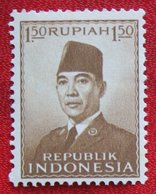 1.50R President Sukarno (Mi 111) 1951 Indonesie / Indonesien / Indonesia POSTFRIS / MNH ** - Indonesia