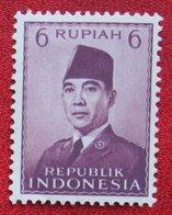 6R President Sukarno (Mi 113) 1951 Indonesie / Indonesien / Indonesia POSTFRIS / MNH ** - Indonesia