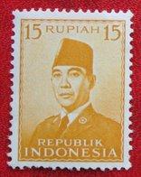 15R President Sukarno (Mi 114) 1951 Indonesie / Indonesien / Indonesia POSTFRIS / MNH ** - Indonesia