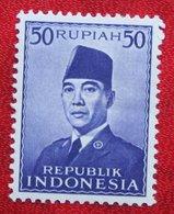 50R President Sukarno (Mi 117) 1951 Ongebruikt / MH  Indonesie / Indonesien / Indonesia - Indonesia