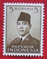 5R President Sukarno (Mi 86) 1951 Indonesie / Indonesien / Indonesia POSTFRIS / MNH ** - Indonesia