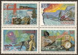 Canada,  Scott 2018 # 1236a,  Issued 1989,  Block Of 4,  MNH,  Cat $ 2.20,  Explorers - 1952-.... Reign Of Elizabeth II